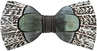 Brackish Feather Pre-tied Bow tie Seabrook 164-BRK