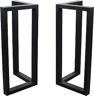 MBQQ 家具用脚 高さ28インチ x 幅17.7インチ (2個) 素朴なデコリー 直角型 テーブル脚 高耐久メタルデスク脚 ダイニングテーブル脚 工業用モダン DIYアイロン脚