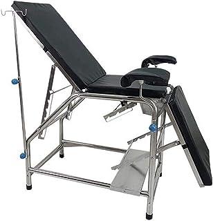 Medical Exam Table,Medical Gynecological Examination Bed, Portable Massage Bed,Adjustable Backrest,Black