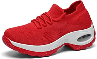 GZTEESER Platform Sneakers for Women Comfortable Hollowing Out Walking Shoes