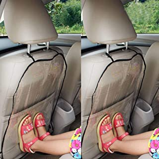 Autositz Rückenschutz, Schutz Autositz Rückenlehne Kinder, Rückenlehnenschutz Auto Kinder, Kick Matten Schutz für den Autositz, Transparent Abnehmbare Hängen Auflage Car Seat Cover Kick Matte für Kids