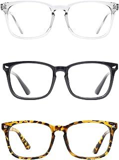9d420bc3d6 TIJN Stylish Square Non-prescription Glasses Eyeglasses Frame for Women Men