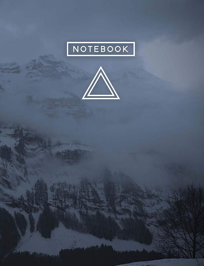 かび臭い写真オフAesthetic Art Journaling: Light Weight Mountain Hiking Composition Book | 150 College Ruled Pages | Obscure Mountain Snow