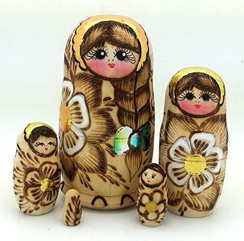 BuyRussianGifts Russian Nesting Sale SALE% OFF Dolls Wood-Burned 5 S Ranking TOP20 Piece Doll
