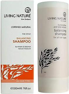 Living Nature Unisex Kumerahou and Kelp Extract All Hair Types Balancing Shampoo, 200 ml