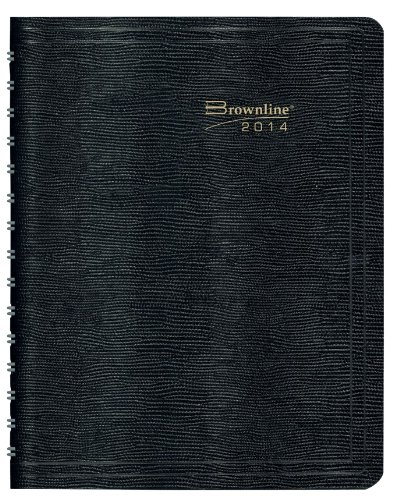 Brownline Weekly Planner for 2014, Twin-Wire, 11x8.5 Inches, Black (CB950.BLK)