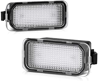 VIPMOTOZ Full LED License Plate Light Tag Lamp Assembly Replacement Pair For Ford Edge Ranger C-Max Transit Connect 150 25...