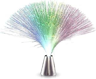 Ourine led de color cambiante fuente de fibra óptica lámpara de luz nocturna decoración del hogar juguetes luminosos