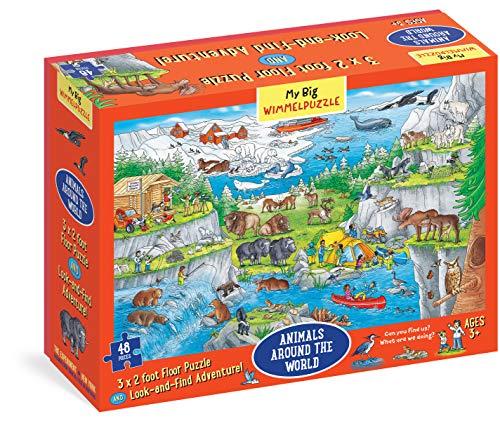 My Big Wimmelpuzzle―Animals Around the World Floor Puzzle, 48-Piece