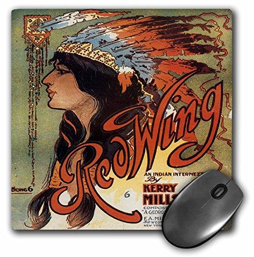 3drose LLC 20,3x 20,3x 0,6cm Maus Pad, Ogalalla indischen Love Song, native American Frau und Cowboy auf Pferde–(MP 169969_ 1)