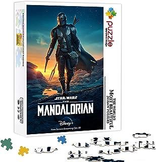 OKJK 500 pièces de Puzzle Adulte Star Wars The Mandalorian Family Toy Puzzle Star Affiche Jeu de Puzzle, Cadeau de Jouet é...