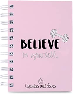 Cupcakes & Kisses Fitness Journal I Planner & Organizer for 200 Workouts I Undated Gym Log Book I Personal Diet Diary I Health Exercise & Meal Tracker