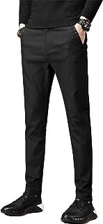 KTMOUW チノパン メンズ スキニーパンツ ストレッチ スリムパンツ ボトムス ロングパンツ ビジネス カジュアル 大きいサイズ 無地 細身 春 夏 秋 ブラック グレー