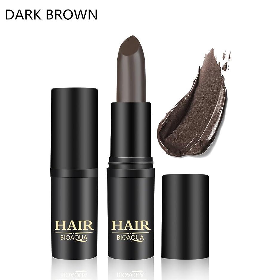 国籍独立プラス[BROWN] 1PC Temporary Hair Dye Cream Mild Fast One-off Hair Color Stick Pen Cover White Hair DIY Styling Makeup Beauty Tools