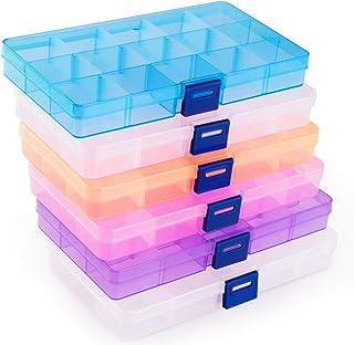 ilauke 6Pcs Boîte De Rangement, Transparents en Plastique Bijoux Container Accessoires Organisateur pour Collier, Boucles ...