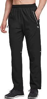 Men's Woven Running Pants Quick Dry UPF 50+ Water Repellent Zig Leg Training Pants