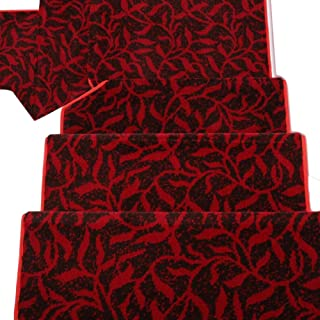 JIAJUAN Stair Carpet Treads Thick Wear Resistant Step Mat Indoor Washable Ottomans Modern, 4 Colors, Customizable (Color :...
