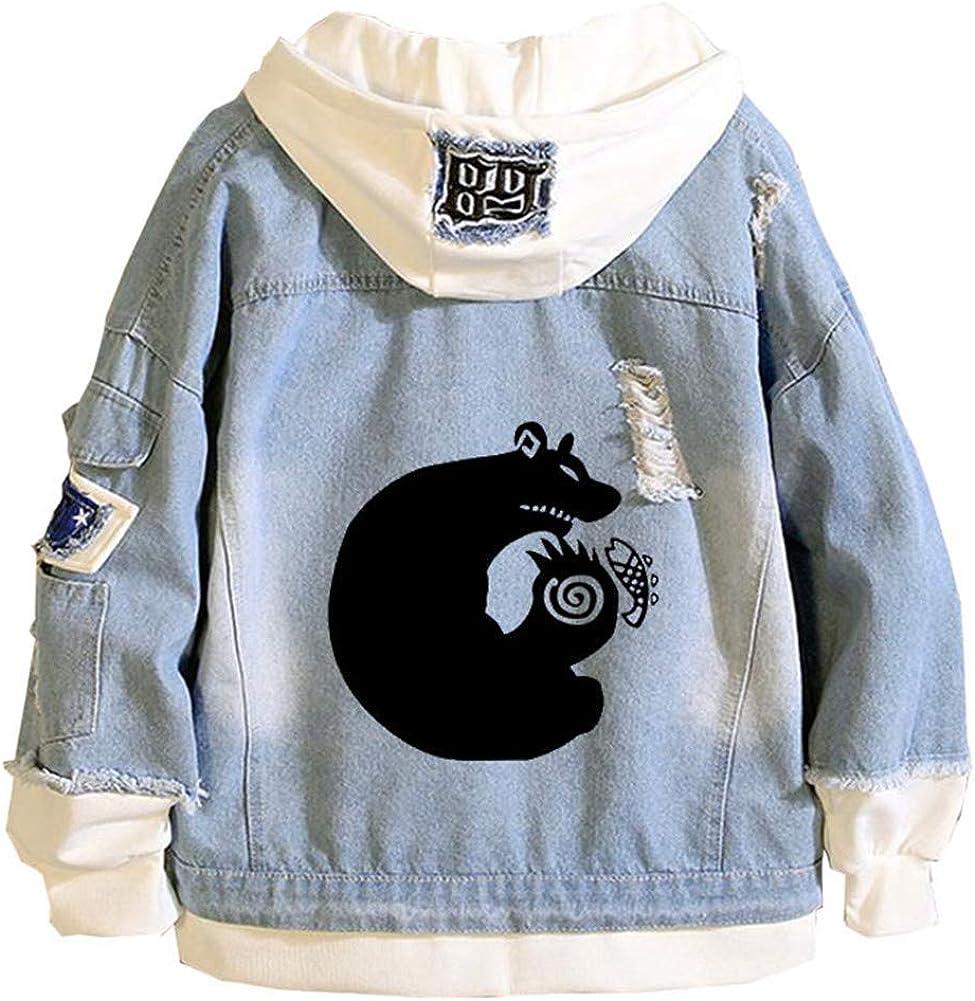 Gumstyle Anime The Seven Deadly Sins Hoodie Denim Jacket Cosplay Sweatshirt Button Down Jeans Coat 7 XXL