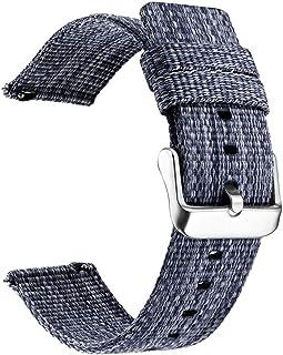 NICERIO Compatibel voor Samsung Gear S3 S2 Bands Nylon Horloge Band Smart Horloge Bands Vervanging Mode Canvas Horloge Pol...