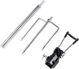 CLISPEED Fishing Rods Holder Fish Pole Stand Adjustable Power Lock Fishing Rod Racks Folding Holder Adjustable Plug-In Rack