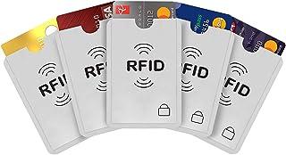 Protector de tarjetas de crédito, 24 fundas de bloqueo RFID para tarjetas de crédito, débito, pasaporte, plata, 9 x 6,3 cm