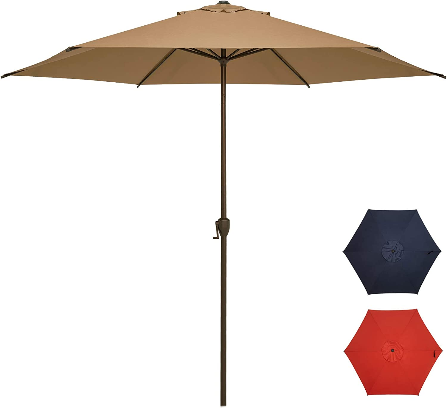 Ogrmar 11Ft Patio Umbrella Outdoor Free Shipping New Butt Table Reservation Push with