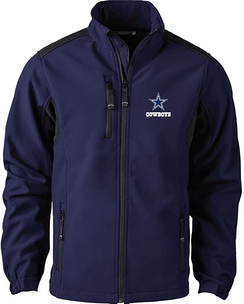 Dunbrooke Men's Black Arizona Cardinals Softshell Fleece Full-Zip Jacket