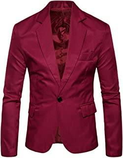 Zytyeu Men Suit Jacket Men Jacket Slim Fit Shawl Collar Button Long Sleeved Spring Autumn Fashion Casual Elegant Comfortab...
