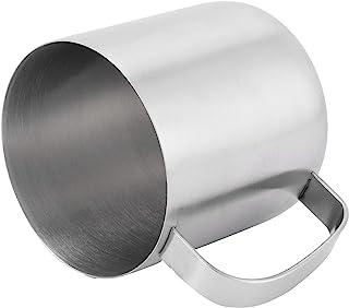 RBSD Kaffekopp, silvervinkopp, saft av rostfritt stål med platt botten för kaffebeervatten