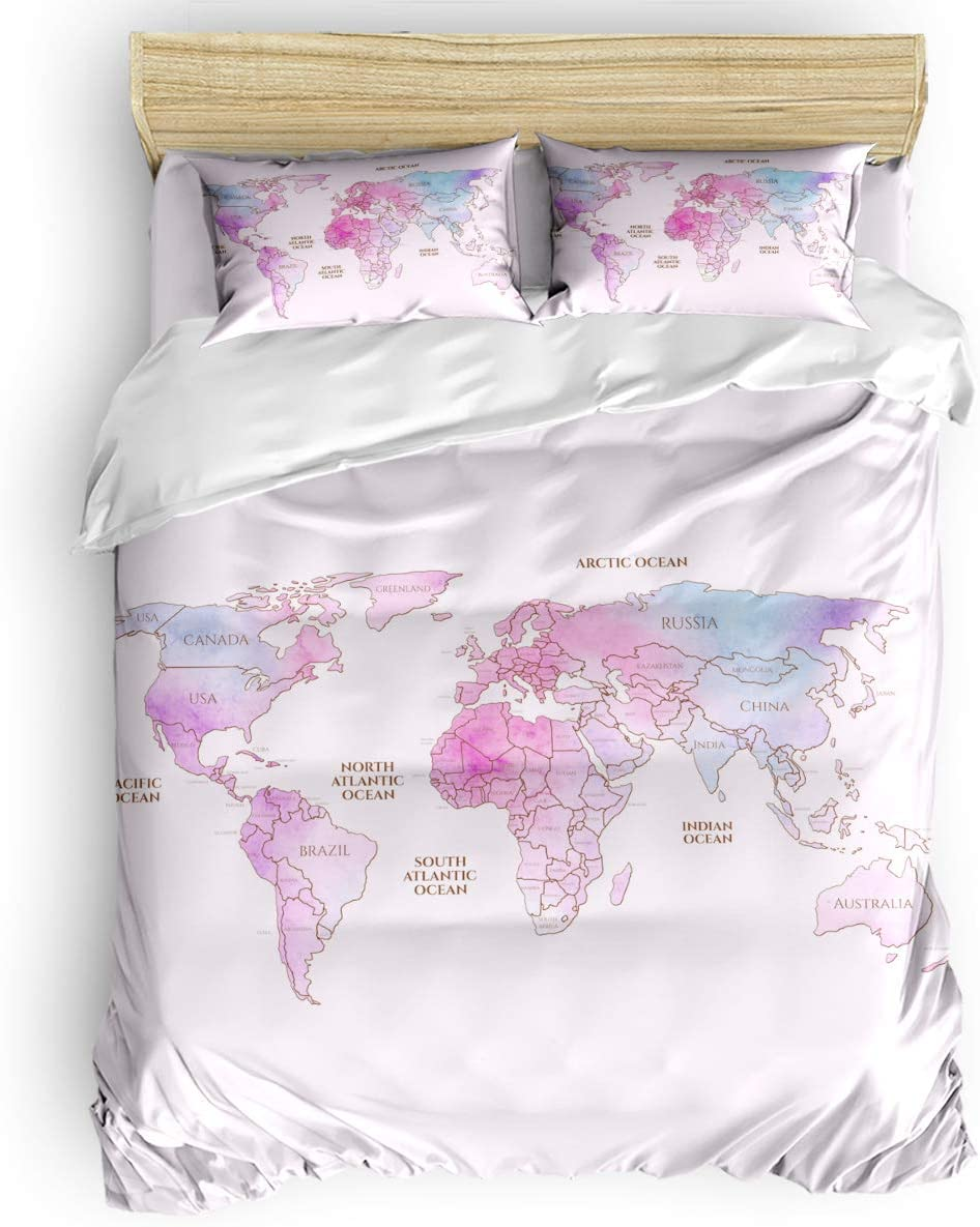 Duvet Cover Set ランキング総合1位 Printed 4 Pcs Duve 低価格 Bedding Include Twin Size