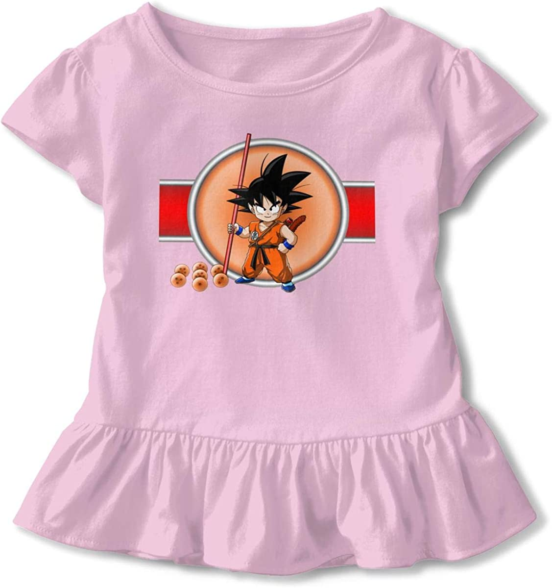 Albuquerque Mall Toddler Max 67% OFF Dresses Classic Ruffled Fi with Goku for