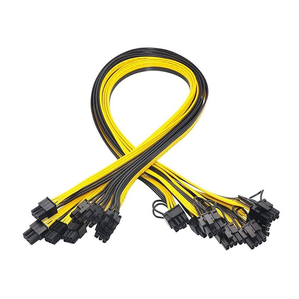 New sales 6pcs PCI-E Dallas Mall 6-pin to 8 Pin 6+2 f Splitter 50cm PCIE Cable Power