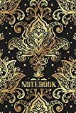 Golden Lotus Notebook: Luxury journal (diary, planner) for teachers, students, artists, writers, and other professionals (lined, 120 pages, 6 x 9 inches)