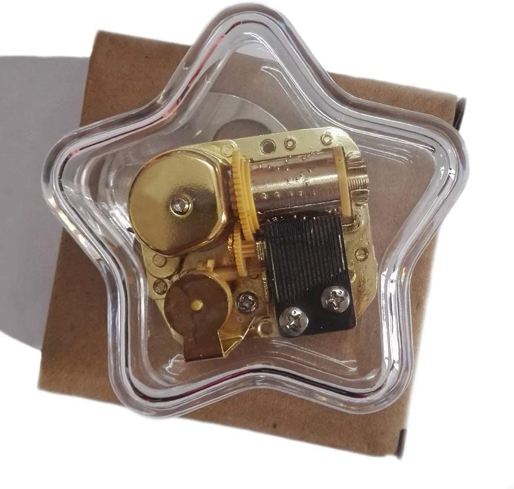 TYTZSM TZSJYYH Music Box Creative NEW before selling Max 66% OFF Wind-up Acrylic Plastics Trans