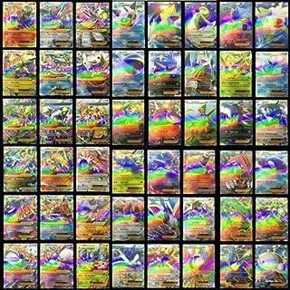 RosyXandy 100 unids Pokemon TCG Mega Juego de Tarjetas Flash