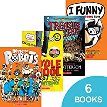 James Patterson 6-Pack Book Set - (I Funny, Jacky Ha-Ha, House of Robots, Public School Superhero, Middle School: The Worst Years of My Life, and Treasure Hunters)