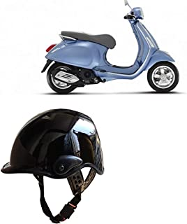 Kandid Open Face Men & Women Helmet For Hero Splendor I Smart (Black)