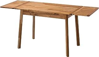 NORDICSTORY Table de salle à manger extensible, bois massif chêne, nordique scandinave pour salon ou salle à manger, chêne...