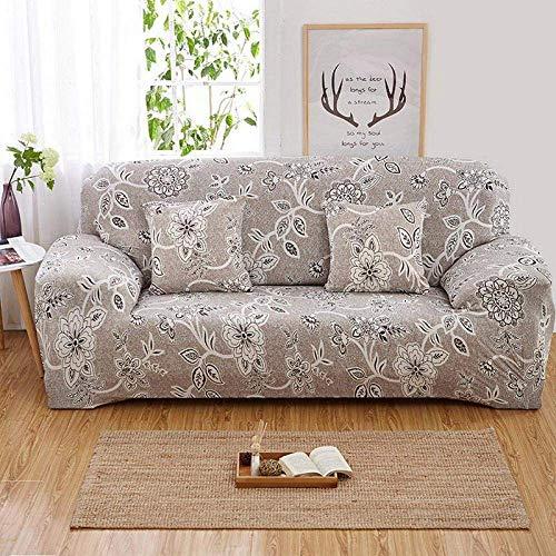Funda para sofá modular con funda elástica Florals de poliéster elástico toalla para sofá todo incluido cojín para sofá funda estilo L @ color 4 plazas individuales