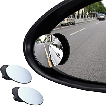 YOTINO 360 ° Rotatable Blind Spot Mirror for Car Wing Adjustable HD Wide Angle Convex for Cars, SUV, Vans, Trucks, Motorbike and More to park -2 Pieces