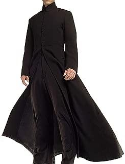 Neo Celebrity Keanu Black Leather Reeves Trench Matrix Coat