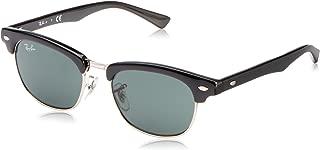 Kids' RJ9050S Clubmaster Kids Square Sunglasses, Black/Green, 45 mm