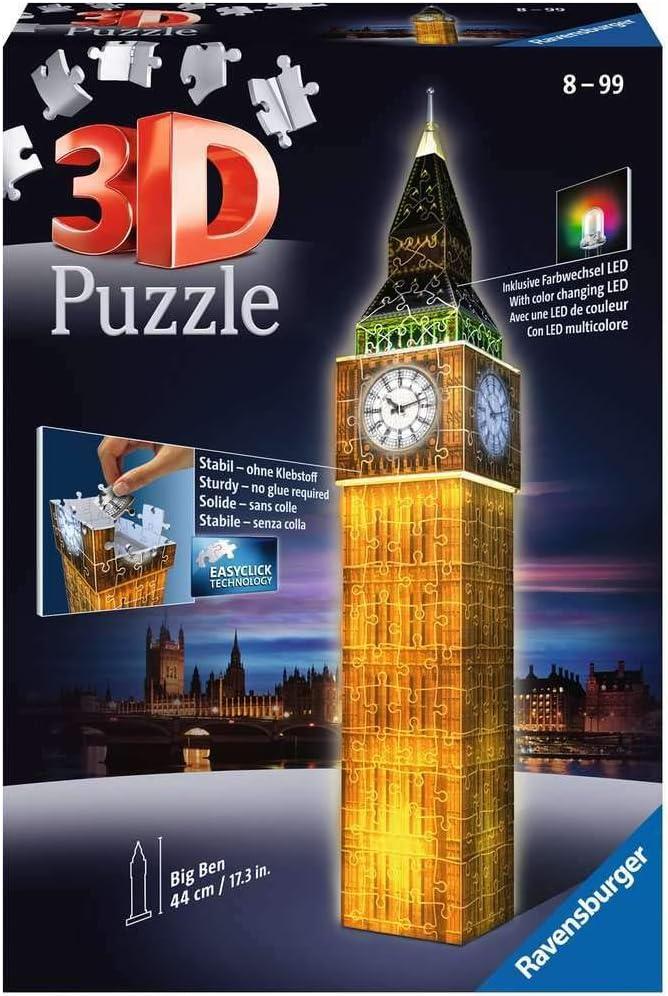 Ravensburger Big Under blast sales Ben - Super intense SALE Night Edition Piece 3D Jigsaw 216 Puzzl