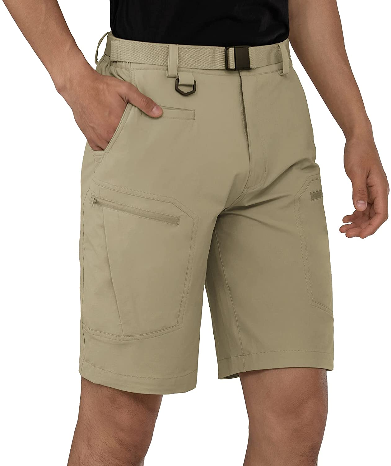 Shallowlulu Mens Cargo Hiking Shorts Water Resistant Quick Dry L