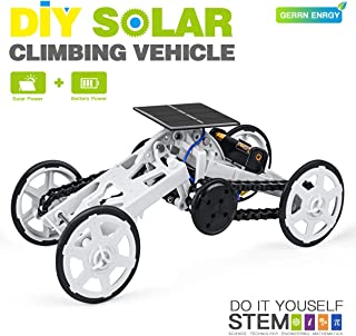Talent Star DIY Climbing Vehicle, STEM Educational Toy Car Assembly Kit, Solar Powered Mechanical Circuit Building 4WD Robotic Motor Car Set for Science, Engineering, Gifts for Boys Kids