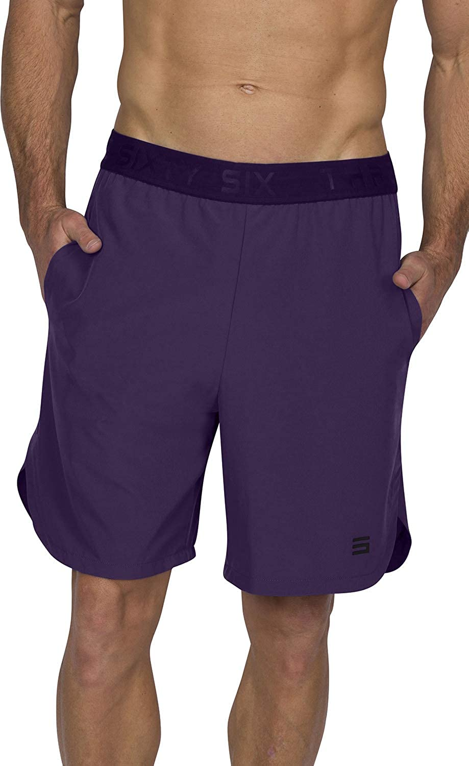 Moisture Wicking with Pockets and Side Hem Mens Workout Running Shorts Dry FIT Gym Shorts for Men