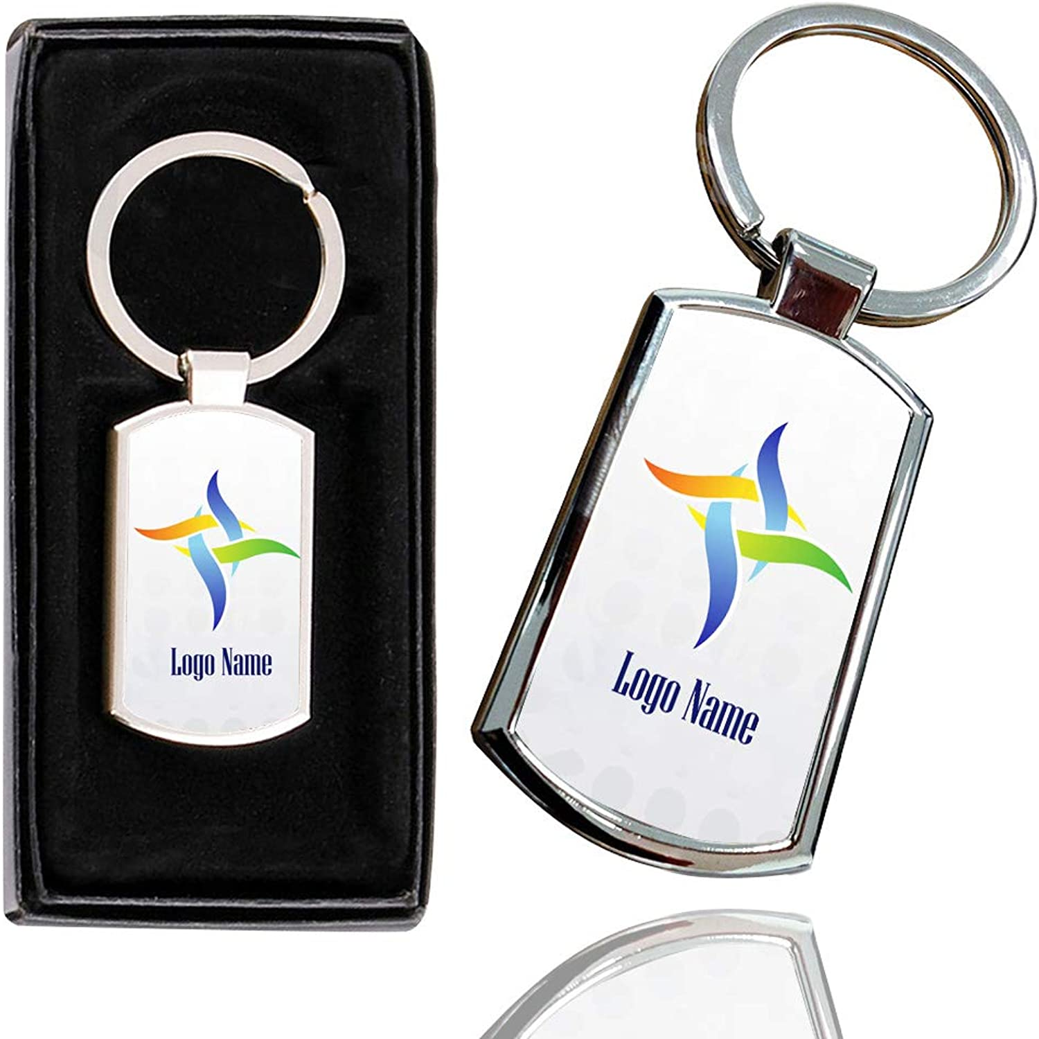 ITronixs WHOLESALE BUSINESS LOGO BRAND PROMOTIONAL KEYRINGPHOTO TEXT, COOL DESIGN PROMOTE YOUR COMPANY  CREATE YOUR OWN WITH ANY IMAGE, LOGO TEXT STYLISH KEYRING BOX (Pack of 20)