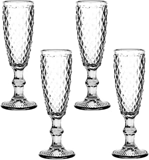 Champagne Flutes Set of 4 Classy Champagne Glass 5oz European Elegant for Women Men Wedding Anniversary Christmas Birthday...