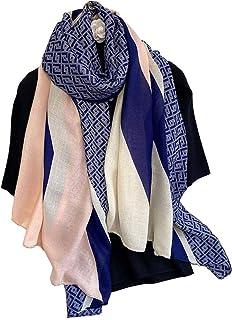 Cotton Linen Feeling Women Large Long Scarf Shawl Check Style Sunscreen Shawls Wraps Lightweight Pattern