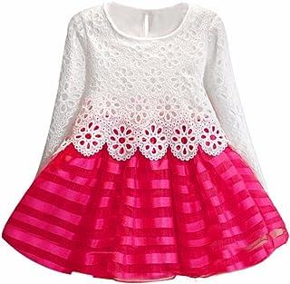 fa156174fe0 DAY8 Fille 2 à 7 Ans Vetement Robe Princesse mode Hiver Robe Soirée Fille  Chic ete